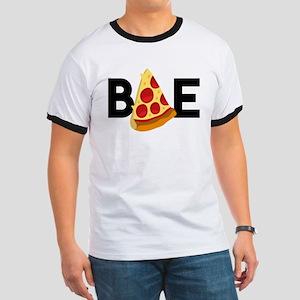 Emoji Pizza Bae Ringer T