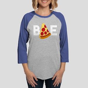 Emoji Pizza Bae Womens Baseball Tee