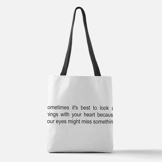 autism saying Polyester Tote Bag