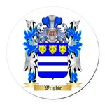 Wrighte Round Car Magnet
