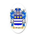 Wrighte 35x21 Oval Wall Decal