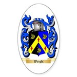 Wright (Ireland) Sticker (Oval 10 pk)