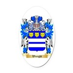 Wreight Oval Car Magnet
