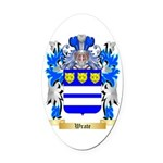Wrate Oval Car Magnet