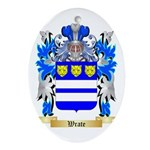 Wrate Oval Ornament
