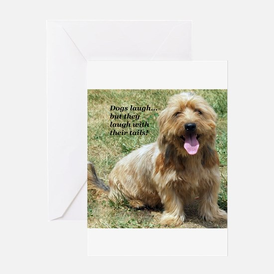 dogs laugh Greeting Card