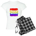 Love Wins Gay Pride Flag Women's Light Pajamas