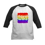 Love Wins Gay Pride Flag Kids Baseball Jersey