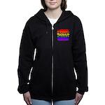Love Wins Gay Pride Flag Women's Zip Hoodie
