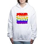 Love Wins Gay Pride Flag Women's Hooded Sweatshirt