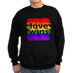 Love Wins Gay Pride Flag Sweatshirt (dark)