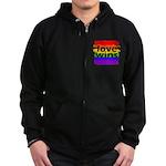 Love Wins Gay Pride Flag Zip Hoodie (dark)