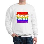Love Wins Gay Pride Flag Sweatshirt