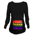 Love Wins Gay Pride Long Sleeve Maternity T-Shirt
