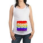 Love Wins Gay Pride Flag Maternity Tank Top