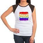 Love Wins Gay Pride Fl Junior's Cap Sleeve T-Shirt
