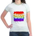 Love Wins Gay Pride Flag Jr. Ringer T-Shirt