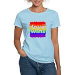 Love Wins Gay Pride Flag Women's Light T-Shirt