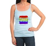 Love Wins Gay Pride Flag Jr. Spaghetti Tank