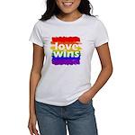 Love Wins Gay Pride Flag Women's T-Shirt