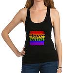 Love Wins Gay Pride Flag Racerback Tank Top