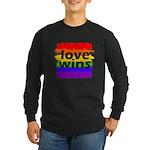 Love Wins Gay Pride Flag Long Sleeve Dark T-Shirt