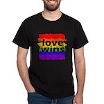 Love Wins Gay Pride Flag Dark T-Shirt