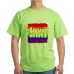 Love Wins Gay Pride Flag Green T-Shirt