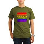 Love Wins Gay Pride F Organic Men's T-Shirt (dark)