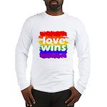 Love Wins Gay Pride Flag Long Sleeve T-Shirt