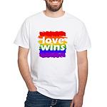 Love Wins Gay Pride Flag White T-Shirt
