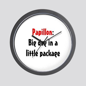 Papillon: Big dog in a little package Wall Clock