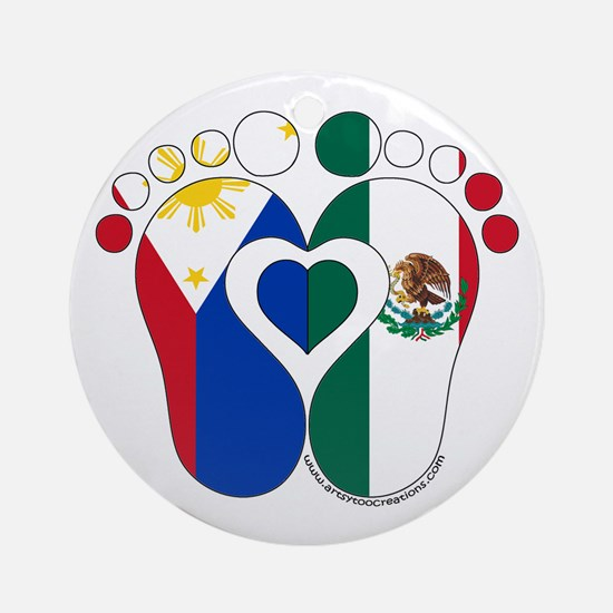Filipino Mexican Baby Round Ornament