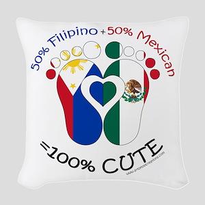 Filipino Mexican Baby Woven Throw Pillow