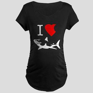 I Love Sharks Maternity T-Shirt