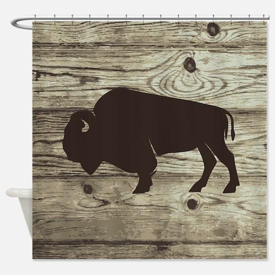 Buffalo Western Wood Plank Shower Curtain