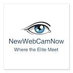 "NewWebCamNow Square Car Magnet 3"" x 3"""