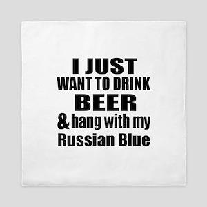 Hang With My Russian Blue Queen Duvet