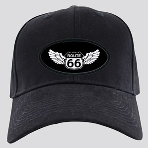 Winged Rte. 66 Black Cap
