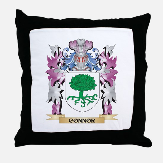 Connor Coat of Arms (Family Crest) Throw Pillow