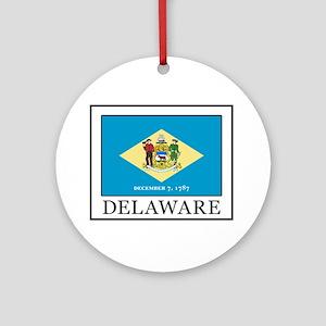 Delaware Round Ornament