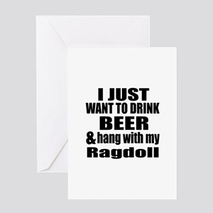 Hang With My Ragdoll Greeting Card