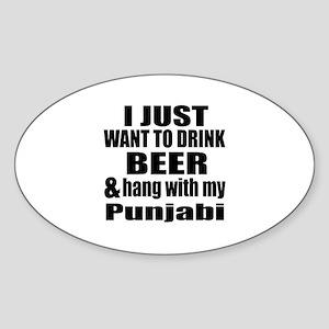 Hang With My Punjabi Sticker (Oval)