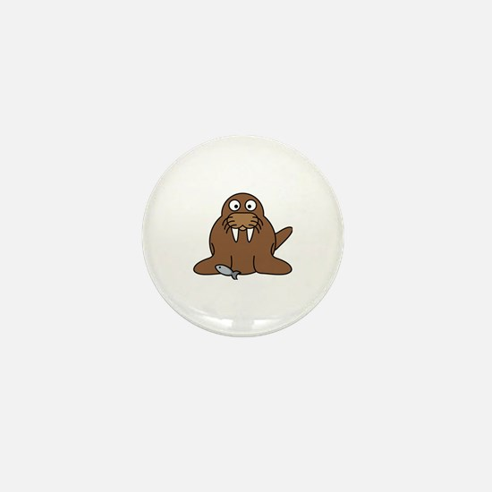 Funny Walrus Mini Button