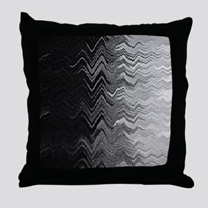 Abstract Wave Ombre Design Throw Pillow