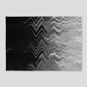 Abstract Wave Ombre Design 5'x7'Area Rug