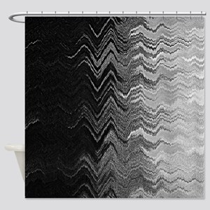 Abstract Wave Ombre Design Shower Curtain