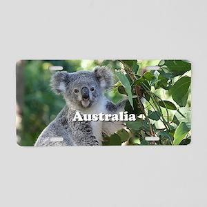 Australia: cute cuddly koal Aluminum License Plate