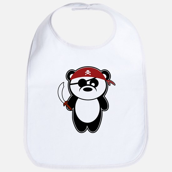 Pirate Panda Bib