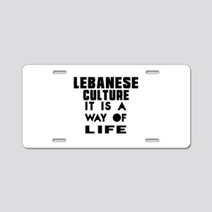 Lebanese Culture It Is A Wa Aluminum License Plate